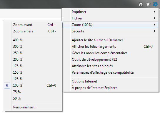 Exemple Internet Explorer